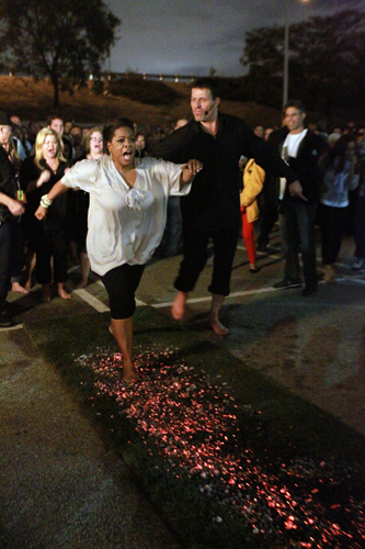 Oprah Firewalking with Tony Robbins