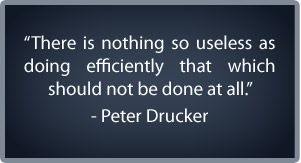 time management tools Drucker quote