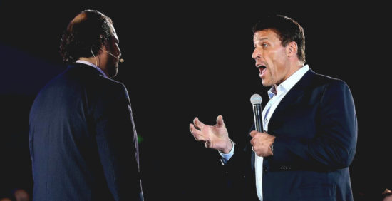 Tony Robbins coaching Marc Benioff
