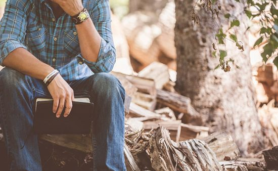 how to get rid of anxiety man sitting in woods