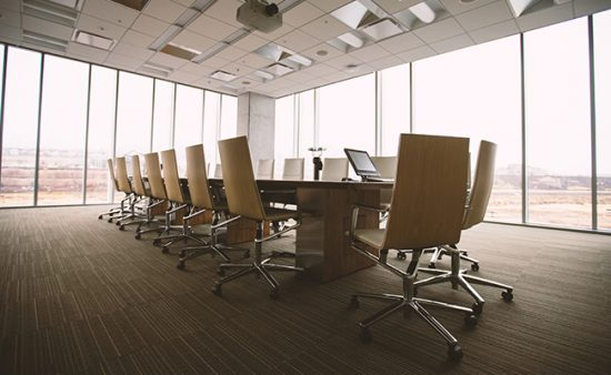 business coaching large conference room table with chairs