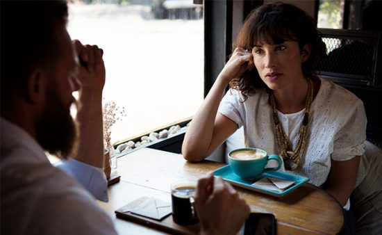 how to help people with anxiety woman facing man