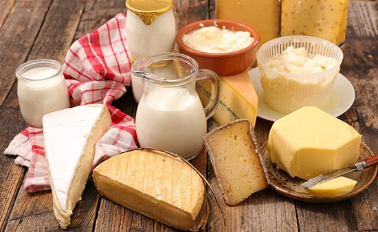 importance of health milk and variety of cheeses