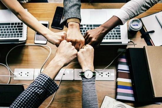 company volunteering teamwork