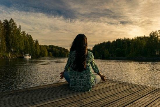 woman practicing meditation techniques