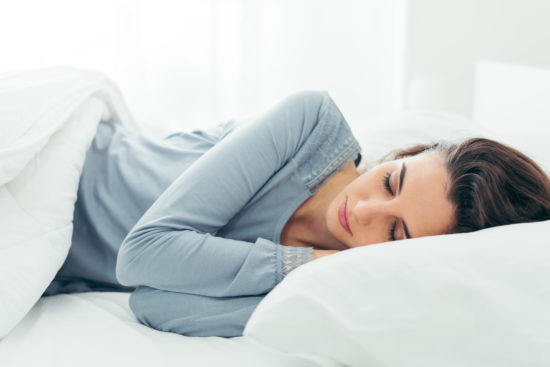 Getting at least seven hours of quality sleep per night