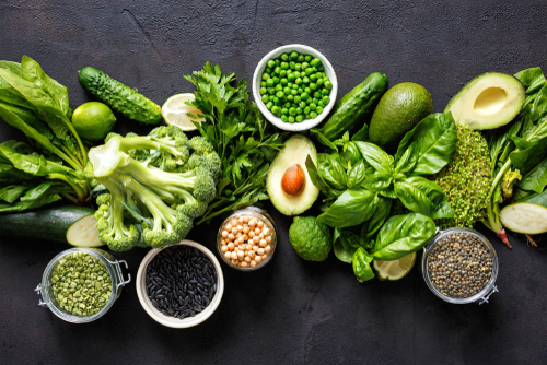 eat lots of leafy green vegetables